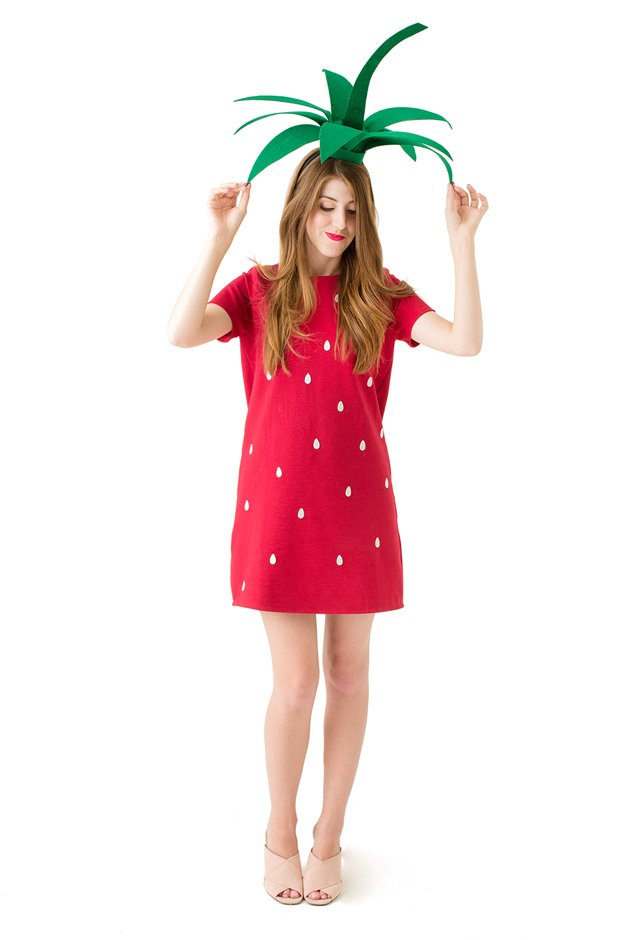 Diy strawberry costume hat free printable