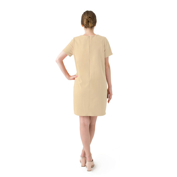 Tan dress product listing backnew original