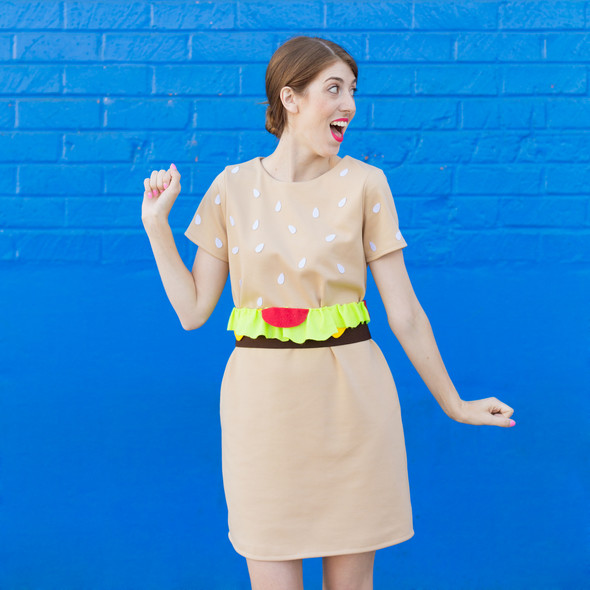Diy burger costume original