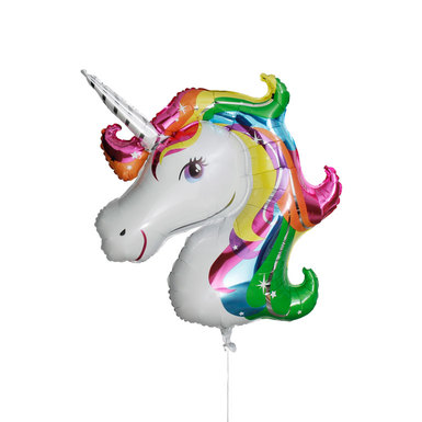 Mylar rainbow unicorn balloon 770