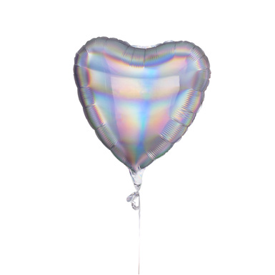 Mylar iridescent heart
